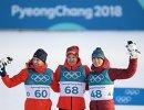 Симен Хегстад Крюгер, Дарио Колонья, Денис Спицов (слева направо)