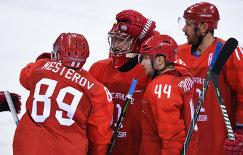 Слева направо: российские спортсмены Никита Нестеров, Илья Сорокин, Егор Яковлев и Илья Ковальчук