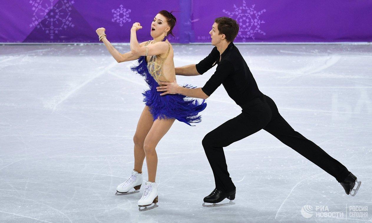 Русские фигуристы Екатерина Боброва иДмитрий Соловьев идут шестыми после короткого танца