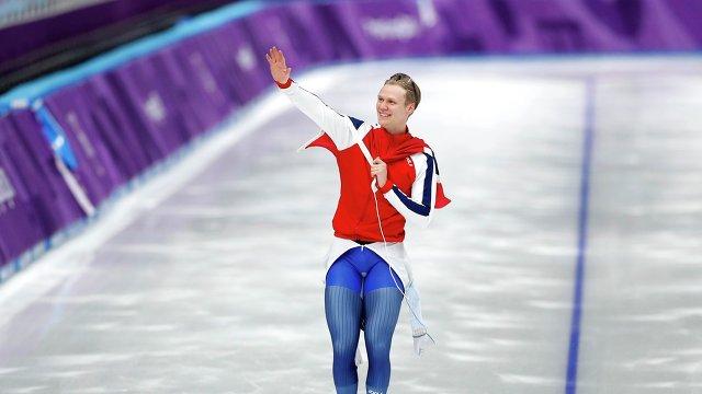 Норвежский конькобежец Ховар Лорентсен
