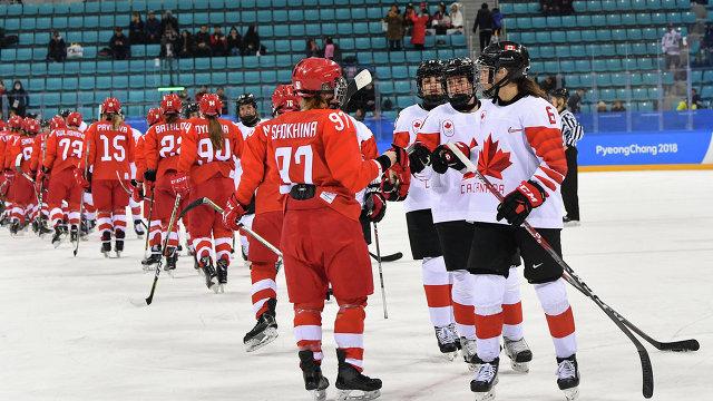 Российские хоккеистки уступили сборной Канады на Олимпиаде под