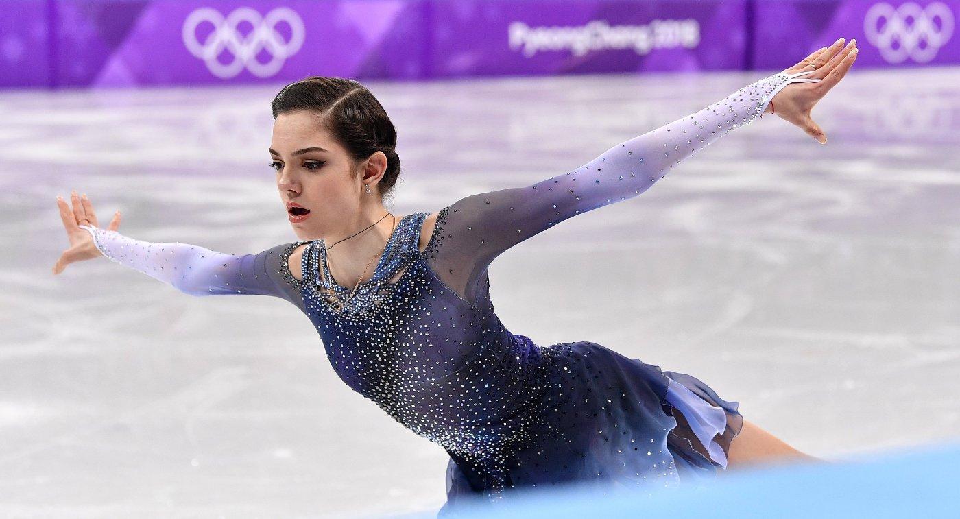 УЕвгении Медведевой возникла золотая медаль ссердечками отболельщиков
