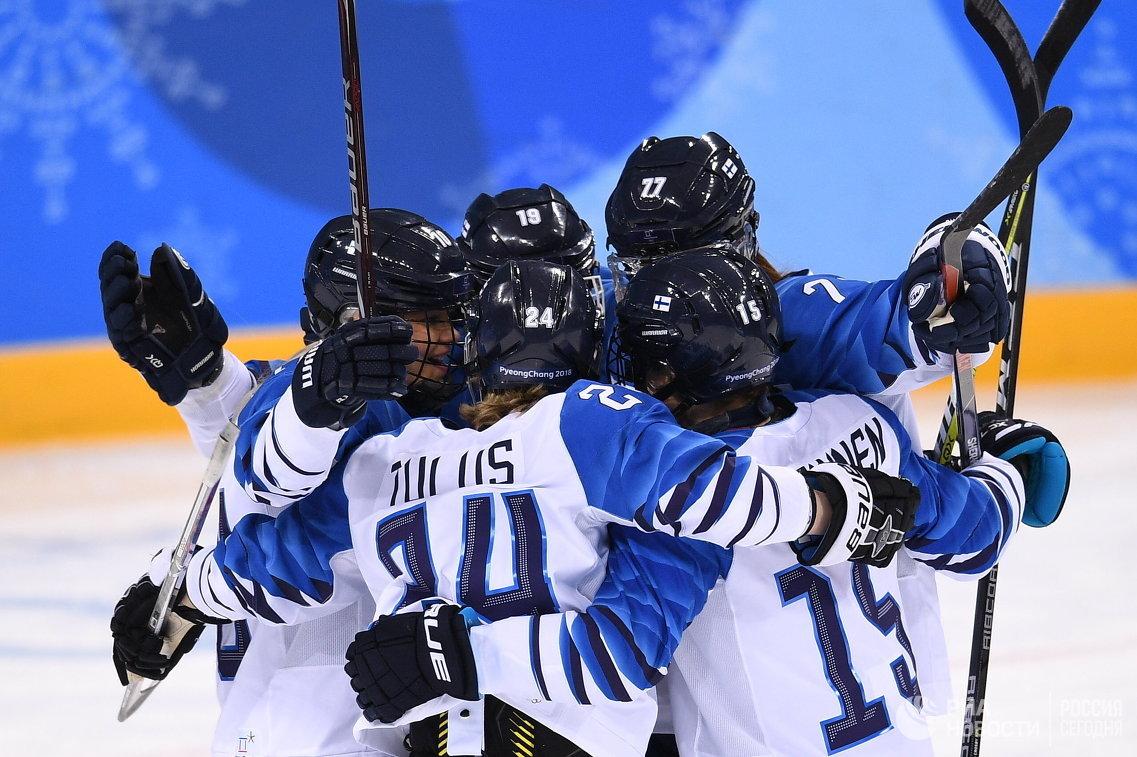 Хоккеистки сборной Финляндии