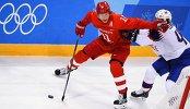 Игровой момент матча Россия - Норвегия