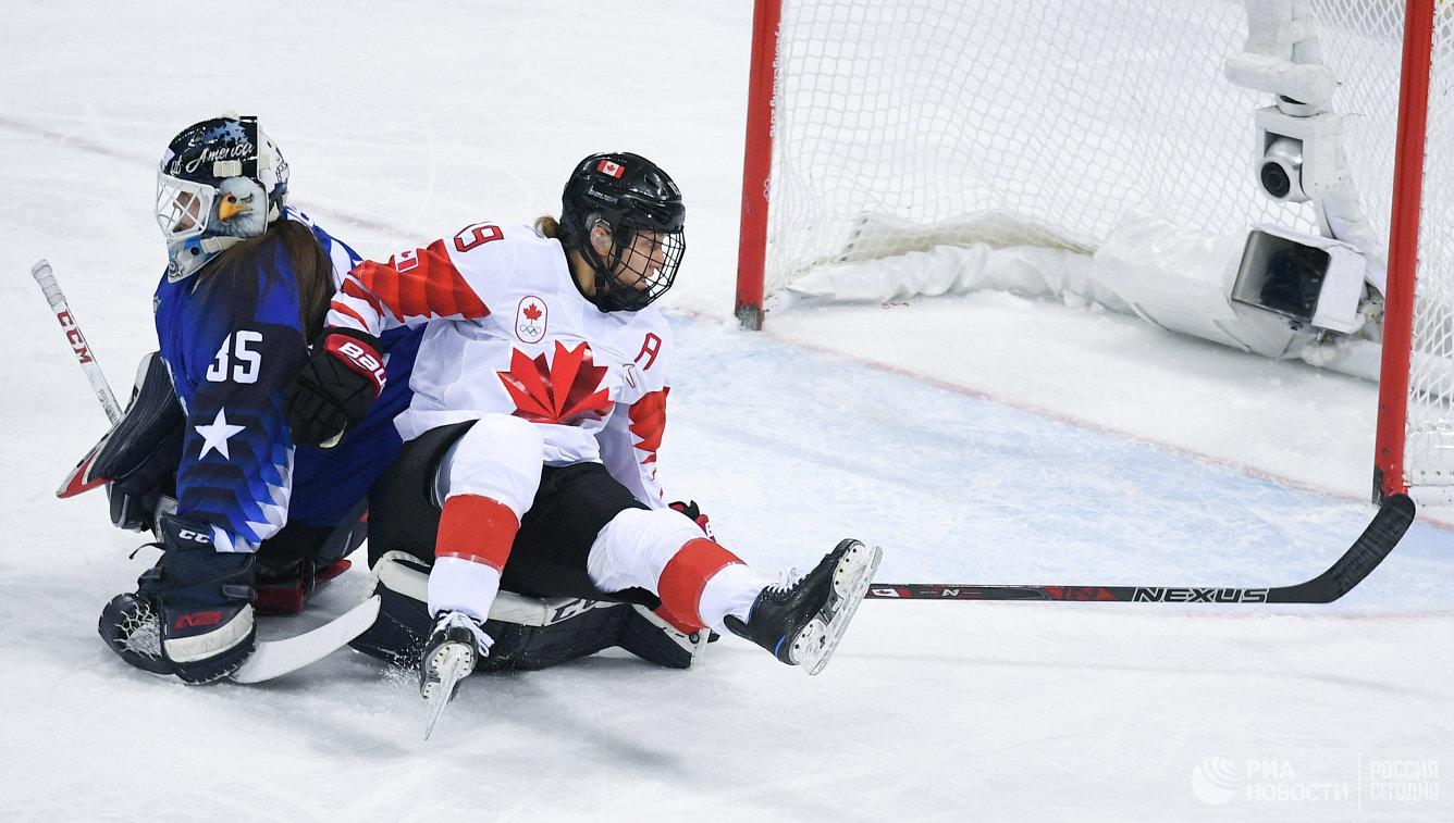 Женская сборная США стала победителем олимпийского хоккейного турнира, вфинале обыграв Канаду