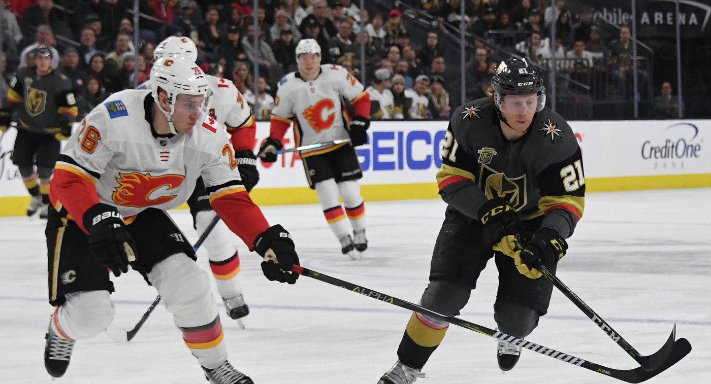 Игровой момент матча НХЛ Вегас - Калгари