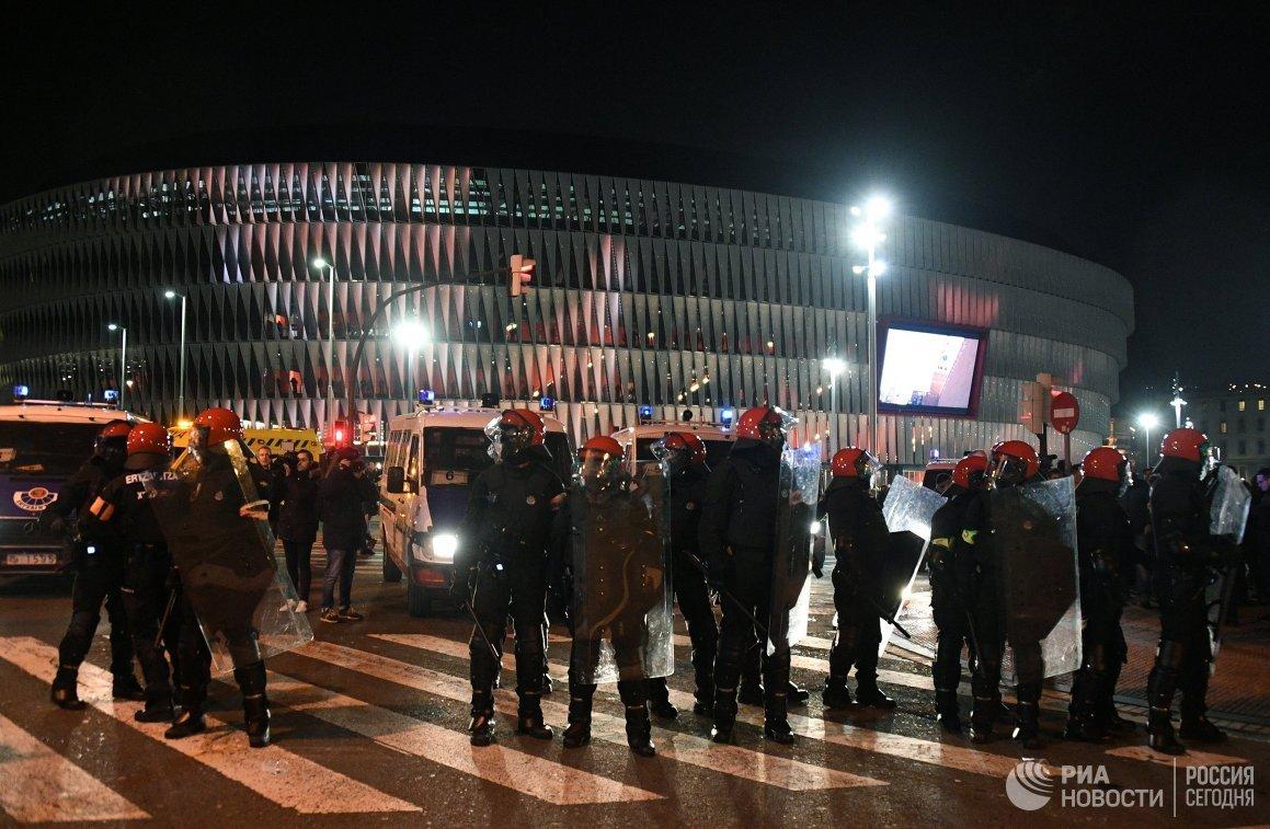 Беспорядки вБильбао устроили нефанаты «Спартака»