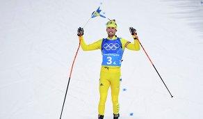 Шведский биатлонист Фредрик Линдстрем