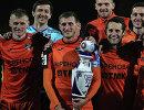 Футболисты Урала после победы в финальном матче Кубка ФНЛ