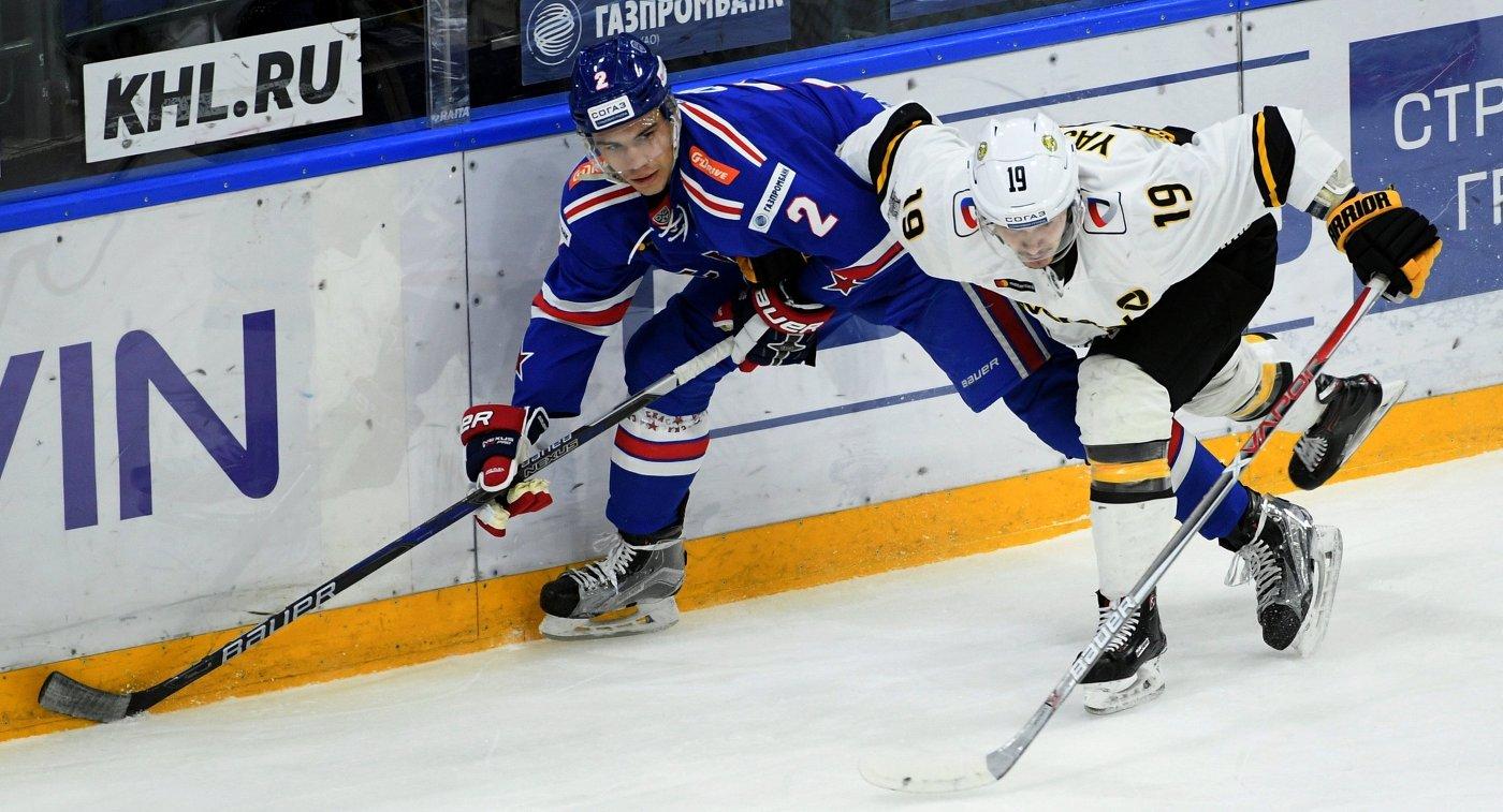 «Северсталь» в настойчивой борьбе уступила СКА впервом матче плей-офф