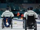 Российские керлингисты Александр Шевченко и Андрей Мещеряков (справа) во время Паралимпиады