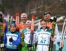 Михалина Лысова, Светлана Сахоненко и Оксана Шишкова со своими ведущими (справа налево)