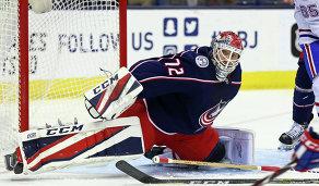 Вратарь клуба НХЛ Коламбус Блю Джекетс Сергей Бобровский