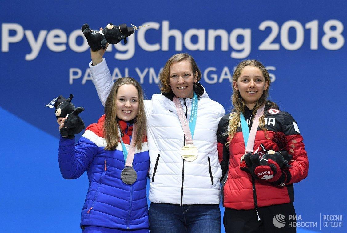Вильде Нильсен, Анна Миленина и Натали Уилки (слева направо)