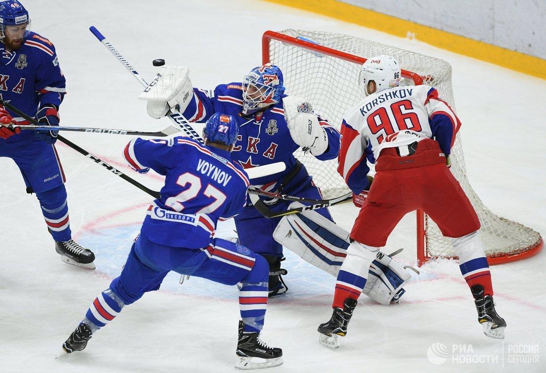 «Локомотив» всухую проиграл СКА впервом матче серии
