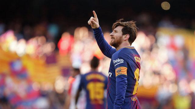 Нападающий Барселоны Лионель Месси