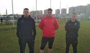 Доктор и массажисты московского футбольного клуба Арарат
