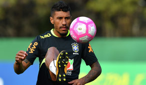 Хавбек сборной Бразилии Паулиньо