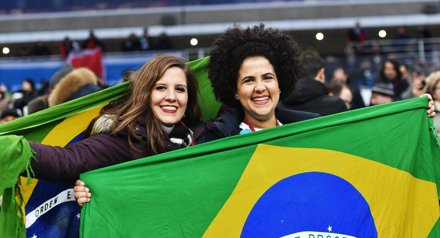Болельщики матча Российская Федерация - Бразилия смогли уехать домой за44 мин.