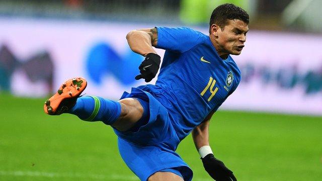 Защитник сборной Бразилии Тиаго Силва