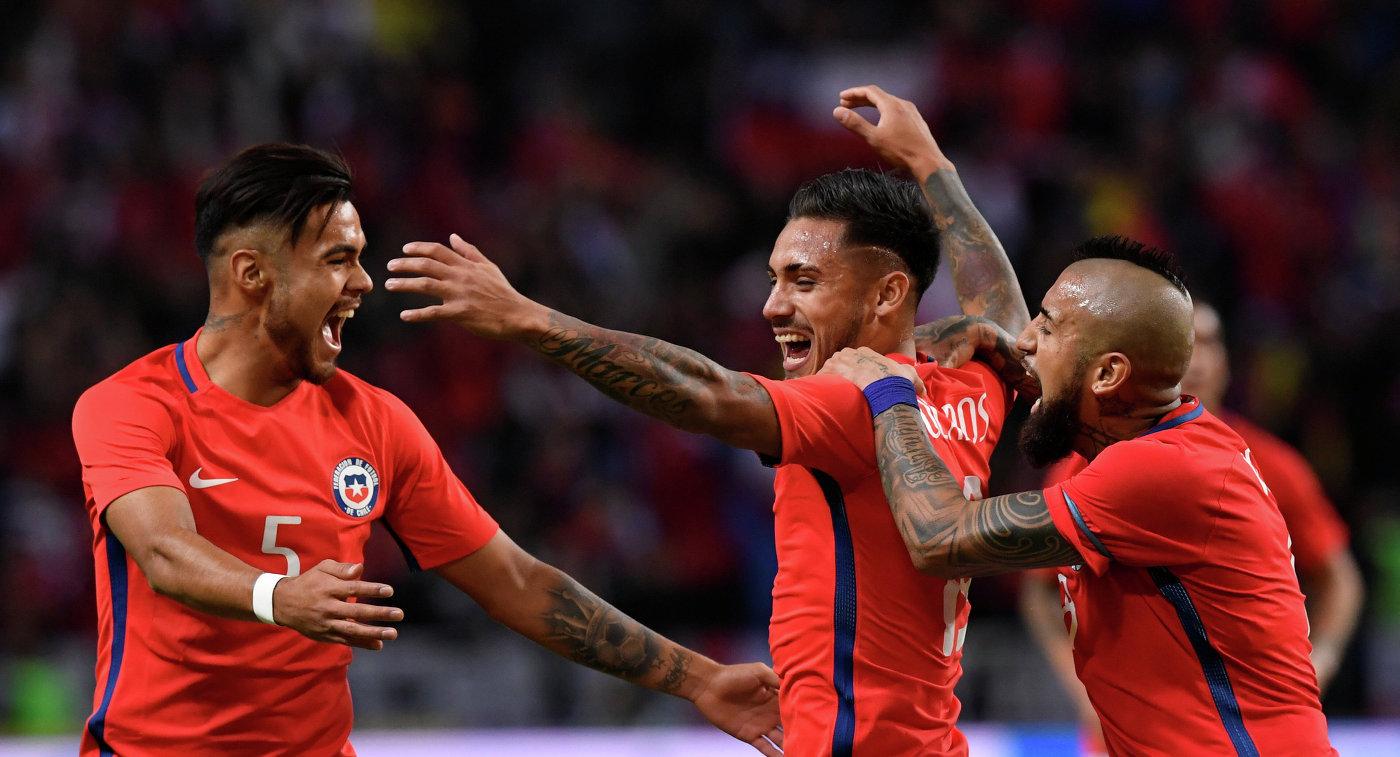 Сборная Чили вырвала победу уШвеции напоследней минуте матча