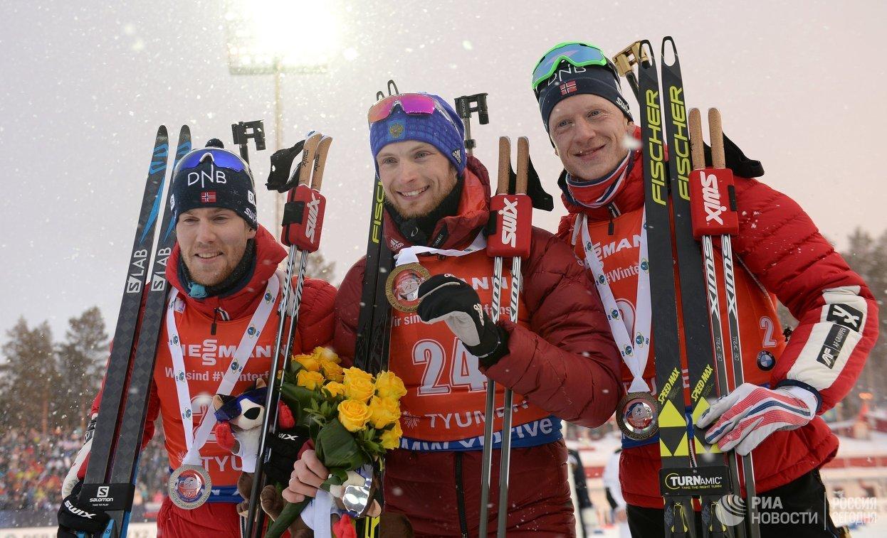 Российский биатлонист выиграл последнюю гонку сезона