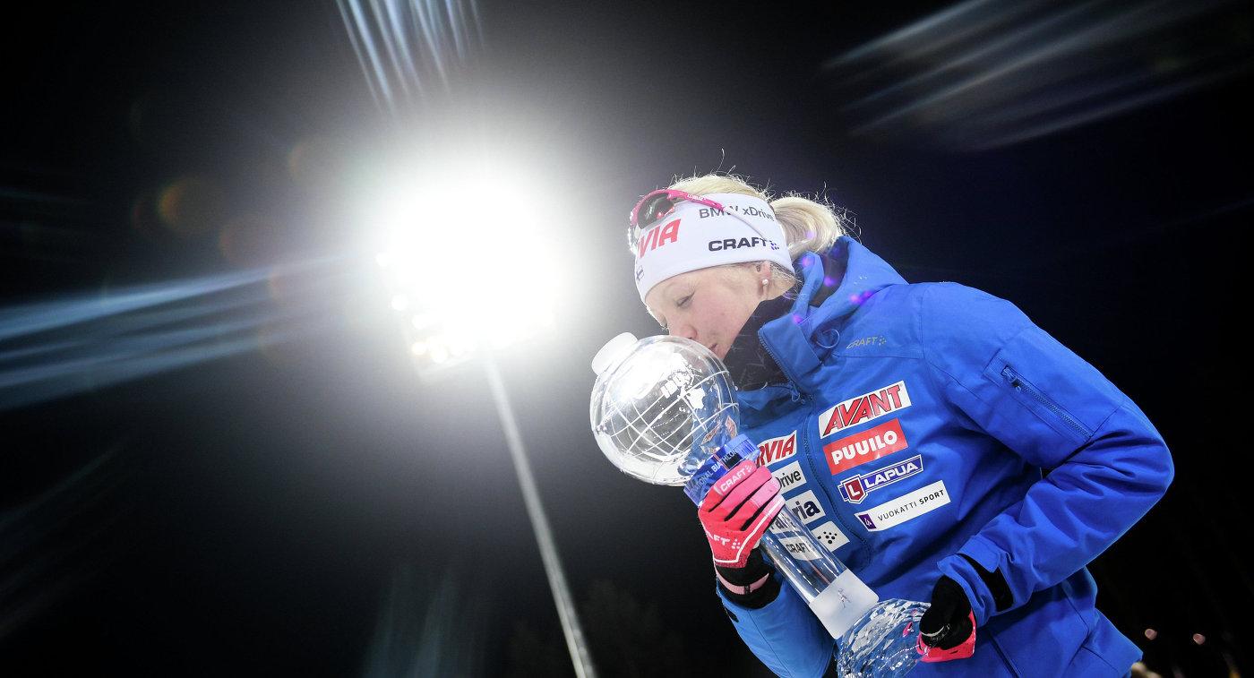 Финка Мякяряйнен выиграла общий зачёт Кубка мира побиатлону