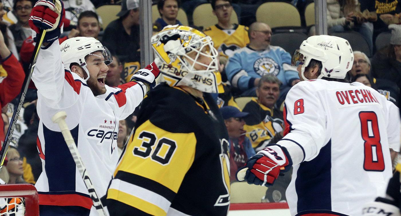 """""""Вашингтон"""" обыграл """"Питтсбург"""" в 1000-м матче Овечкина в НХЛ"""