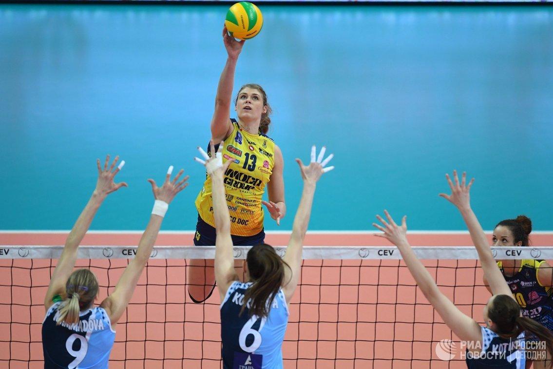 Волейболистки казанского «Динамо» победили «Конельяно», однако вылетели изЛиги чемпионов
