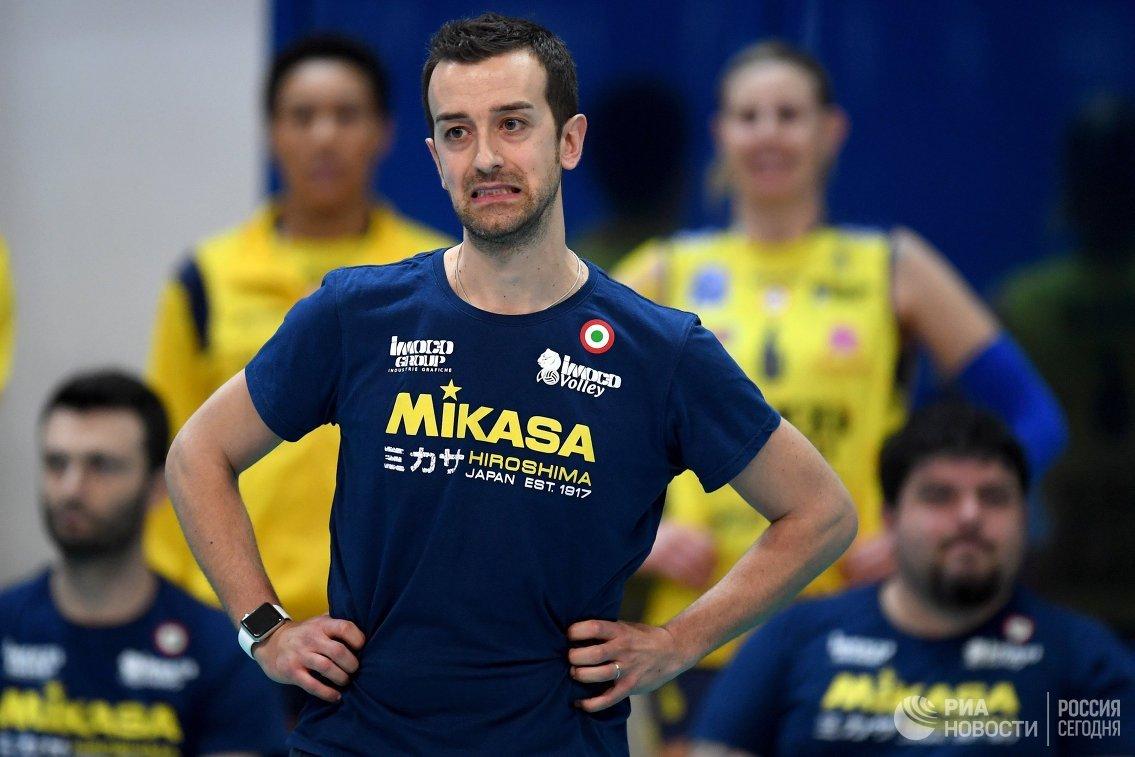 Главный тренер ВК Конельяно Даниэле Сантарелли