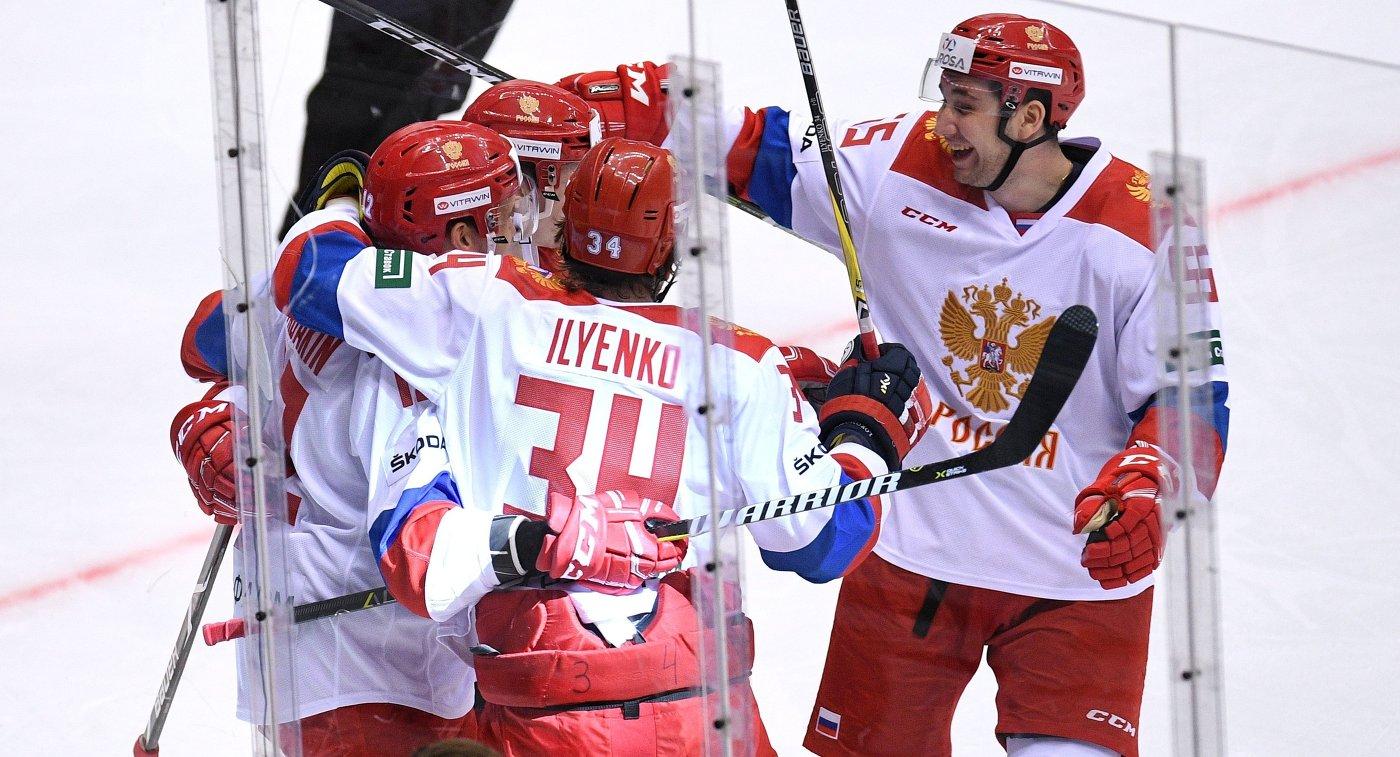 Хоккеисты олимпийской сборной РФ победили норвежцев вматче Евровызова
