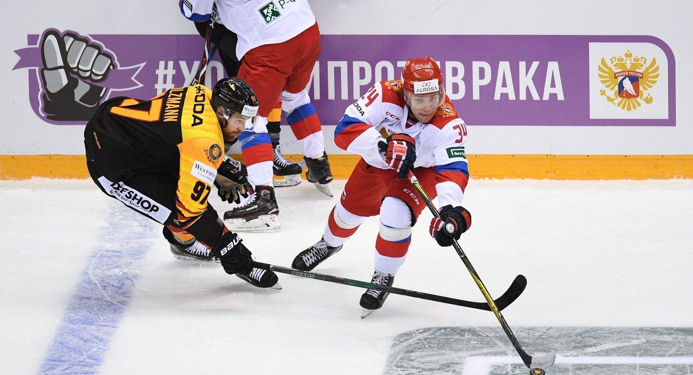 Екатеринбургский хоккеист отличился вматче Евровызова всоставе сборной РФ