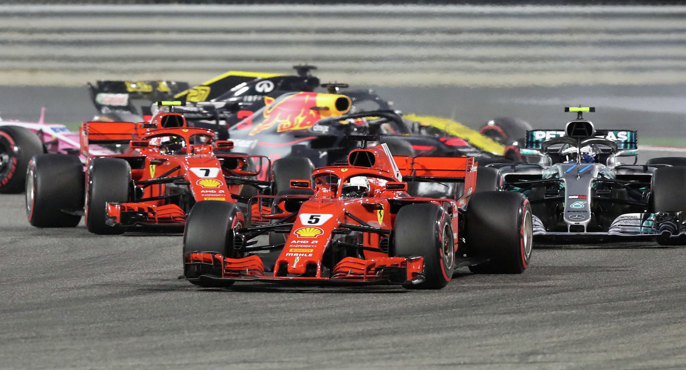 Себастьян Феттель одержал победу Гран-при Бахрейна