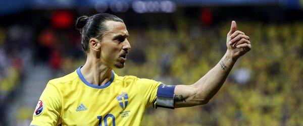 Нападающий сборной Швеции Златан Ибрагимович