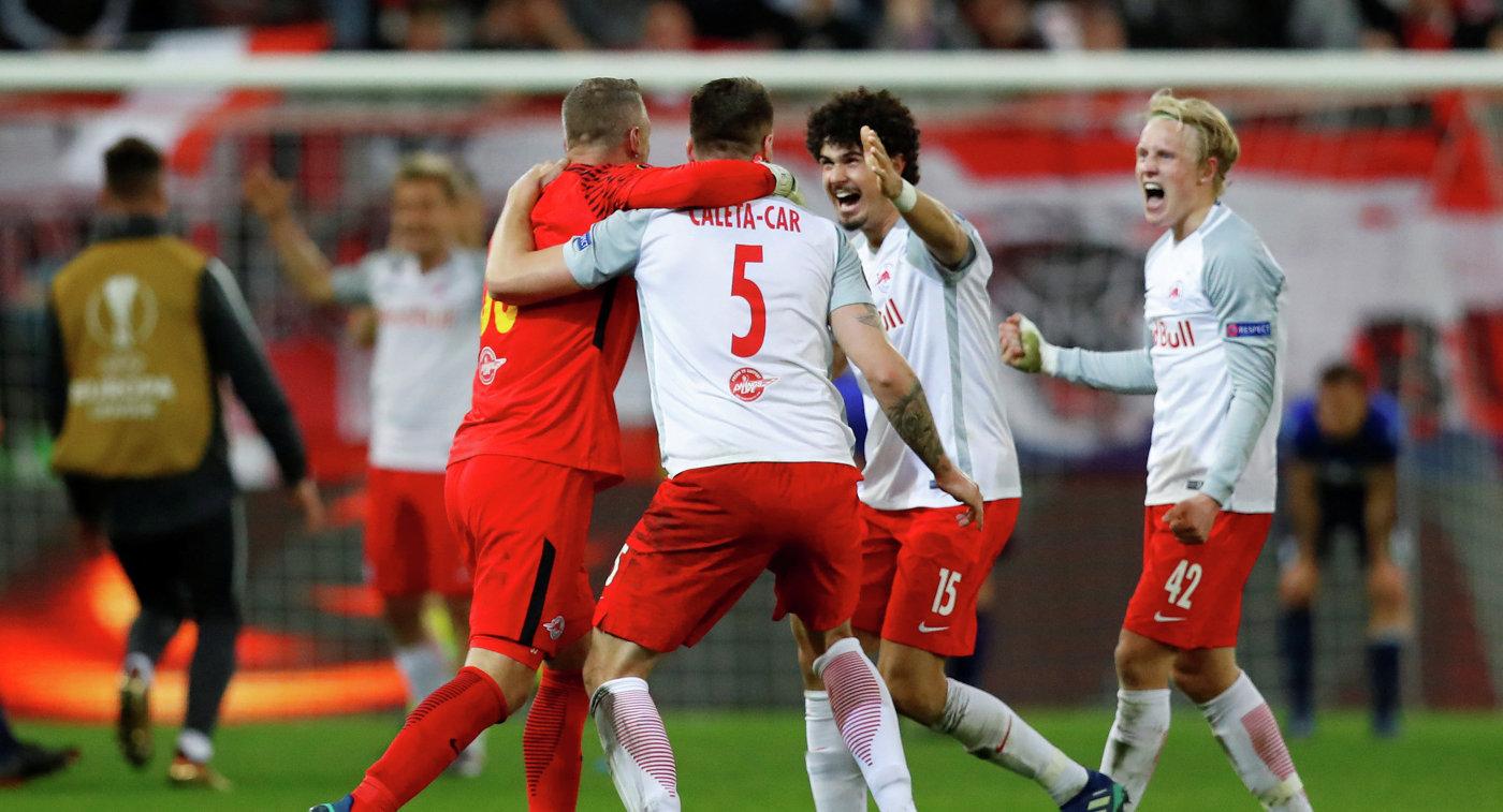 «Ред Булл Зальцбург» вышел вполуфинал Лиги Европы, разгромив «Лацио»