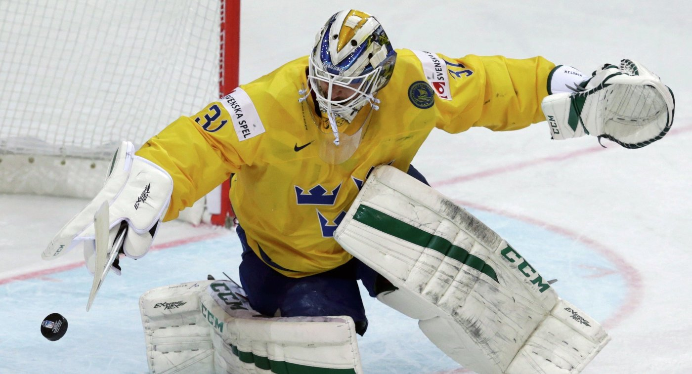Голкипер сборной Швеции Андерс Нильссон