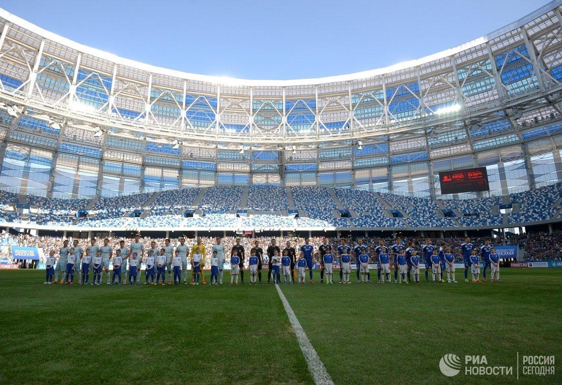 1-ый тестовый матч прошел на«Стадионе Нижний Новгород»