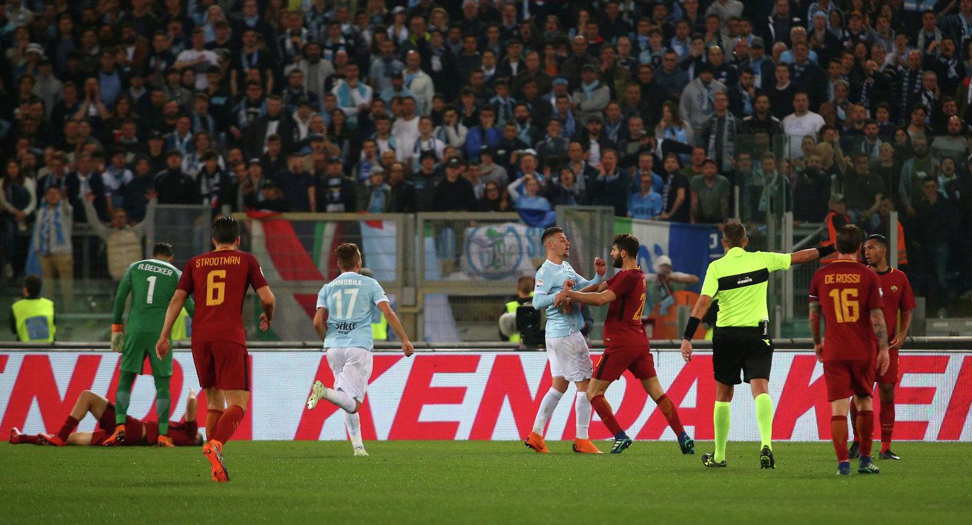 «Лацио» и«Рома» сыграли вничью вримском дерби