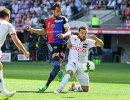 Игровой момент матча Базель - Сьон