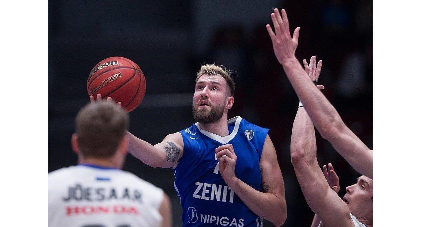 Баскетбольный «Зенит» обыграл «Калев»