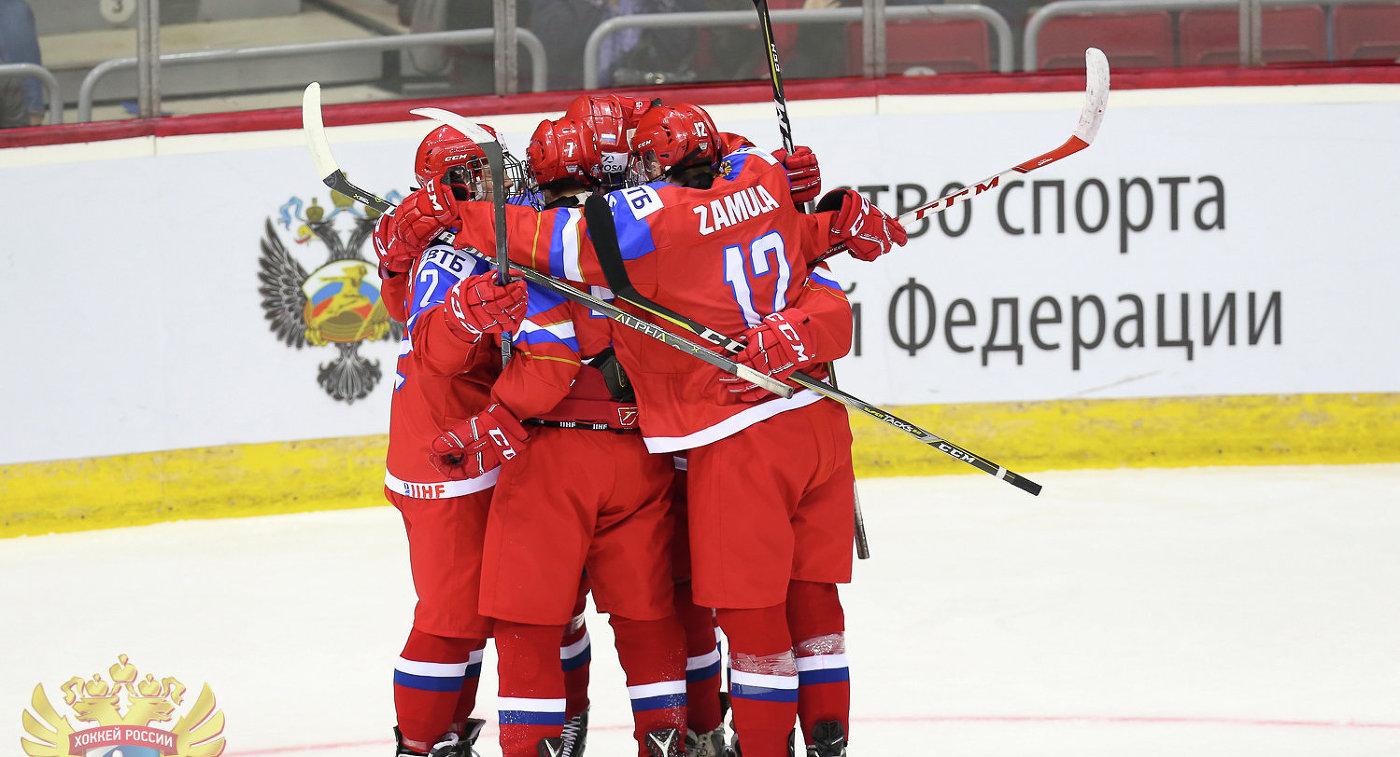Хоккеисты юниорской сборной России (до 18 лет)