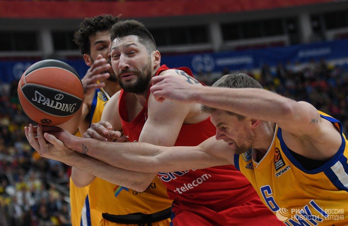 ЦСКА обыграл «Химки» в основном матче четвертьфинала— Евролига