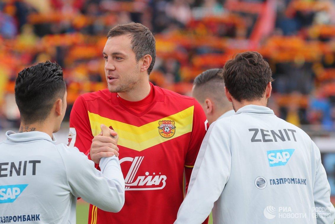 Футболист «Арсенала» Дзюба считает, что матч с«Зенитом» стал украшением чемпионата РФ