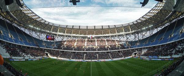 Матч на стадионе Волгоград Арена