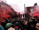 Беспорядки фанатов перед матчем ЛЧ Ливерпуль - Рома