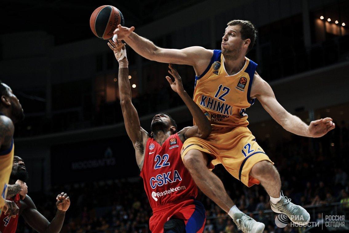 Баскетболисты «Химок» победили ЦСКА втретьем матче Евролиги