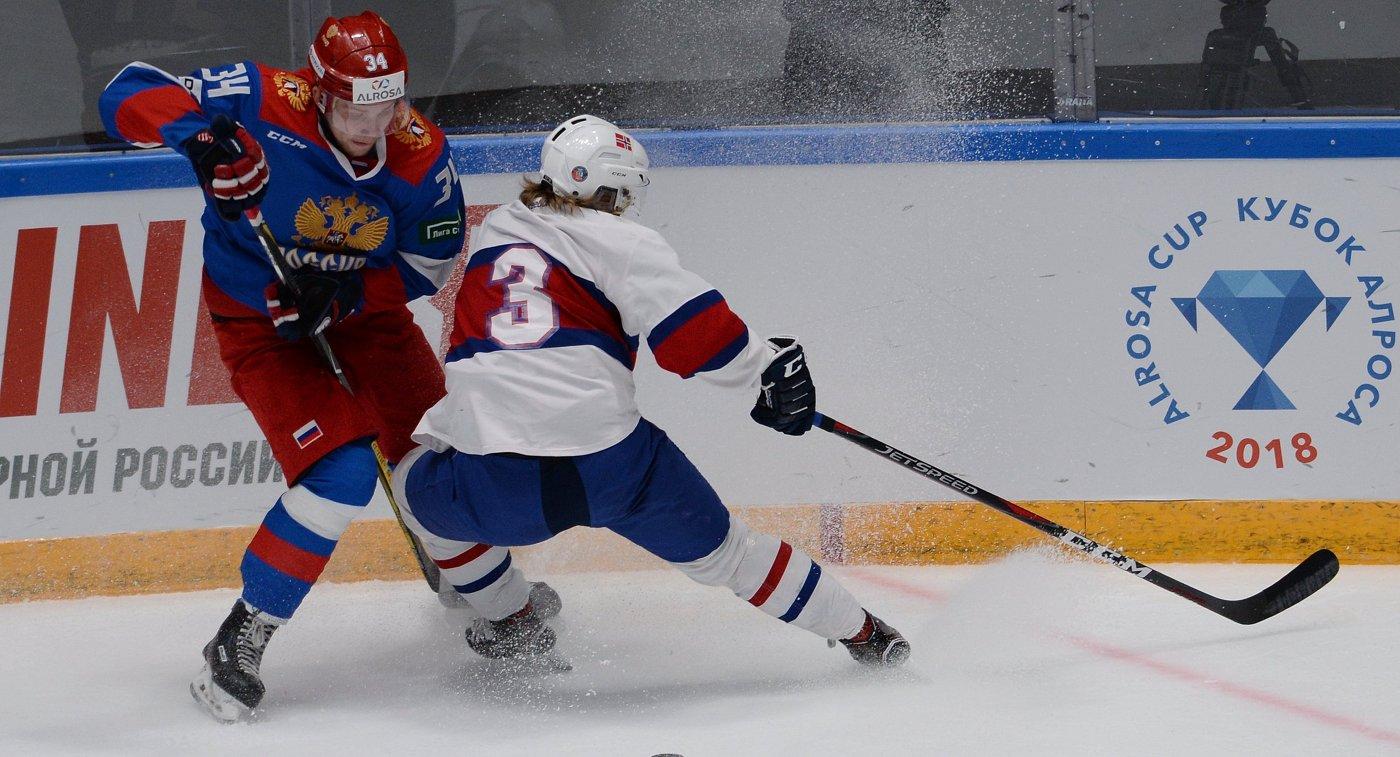 Олимпийская сборная Российской Федерации похоккею едва переиграла республику Белоруссию