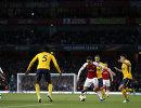 Игровой момент матча Арсенал - Атлетико