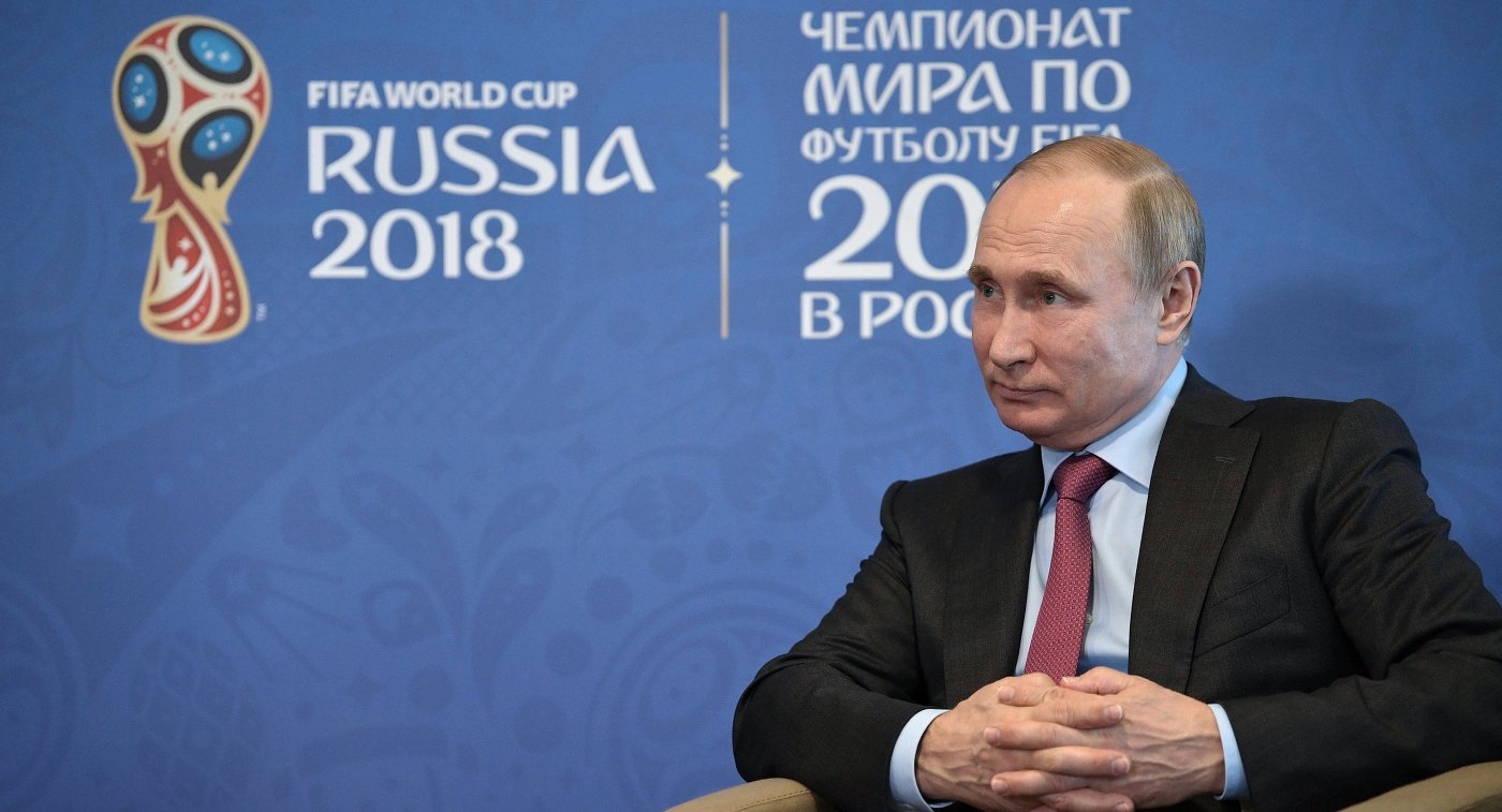 Путин посетит 1-ый матч чемпионата мира пофутболу