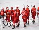 Хоккеисты сборной России после матча